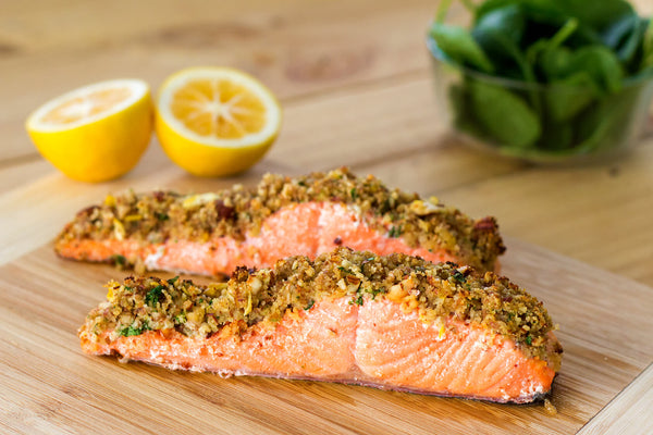 Almond, Lemon, Parsley-crusted Salmon Recipe