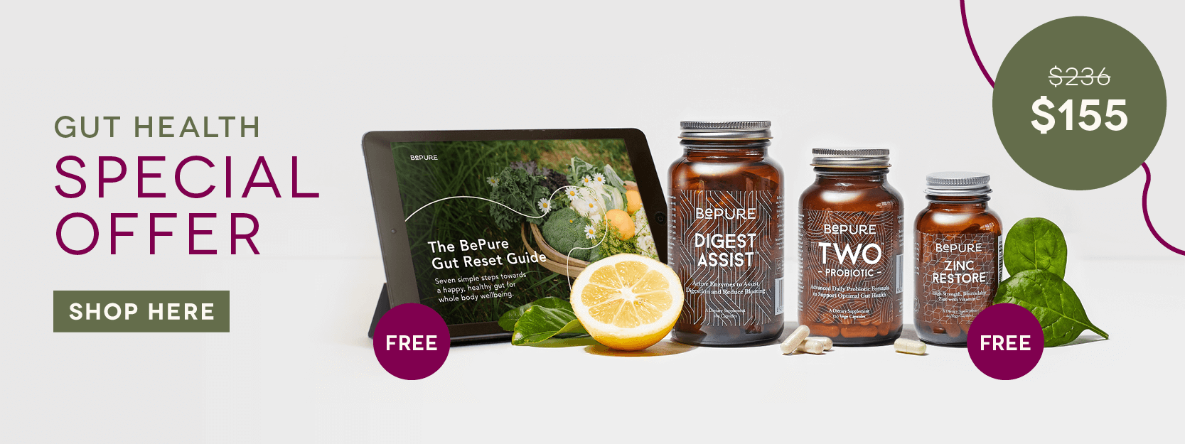 BePure Gut Health Pack Special