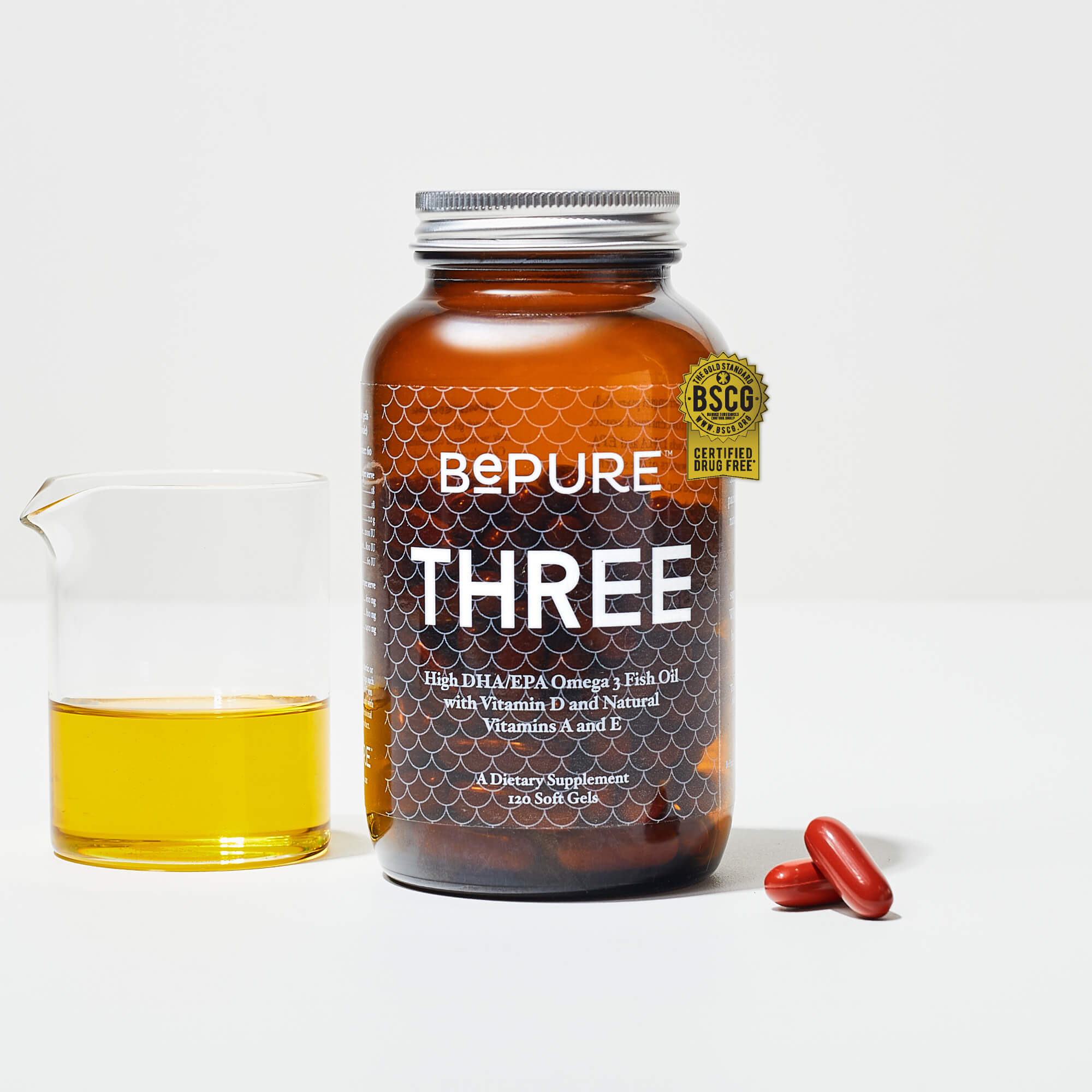 BePure Three Omega 3 Fish Oil - 60 Day