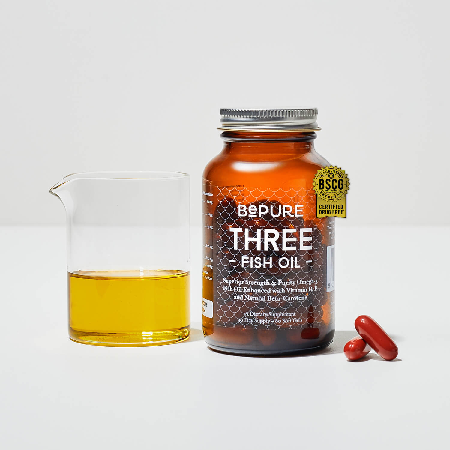 BePure Three - Omega 3 Fish Oil - 30-Day
