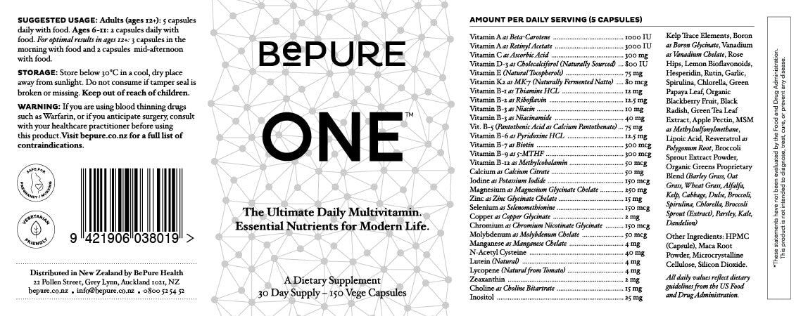BePure One - Daily Multivitamin 30-Day Supply
