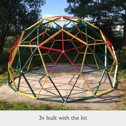 3v Geodesic Dome Kit - 5/8th – Build with Hubs