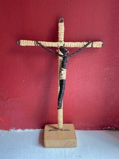 Handmade Crucifix on Pedestal