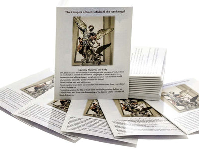 100 St Michael Chaplet Rosary Prayer Booklets