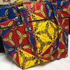 Rwandan fabric print tote bag for women