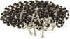 10 Black Wood Bead Chrome Rosary & 10 Praying Booklets - Immaculee Ilbagiza Store