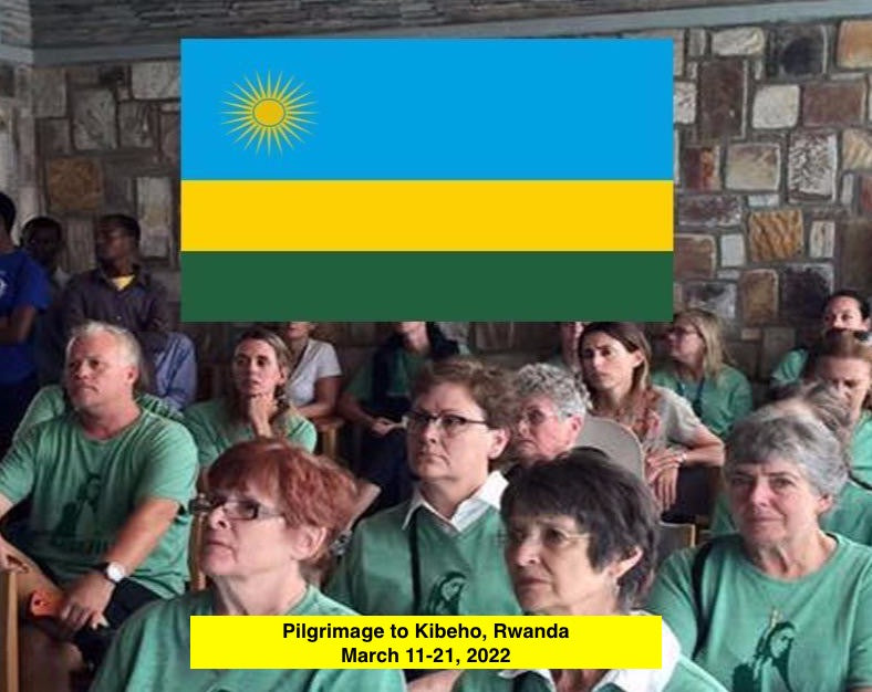 Kibeho, Rwanda Pilgrimage with Immaculee on August 10-18, 2021