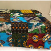 Rwandan throw blanket-colorful cover for bed & couch (59x47 inches)