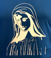 Virgin Mary Blue t-shirt