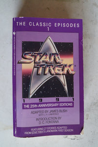 25th Anniversary Editions of James Blish Star Trek Novels
