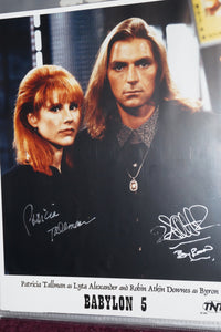 "Autographed Photo ""Lyta Alexander and Robin Atkin Downes"""