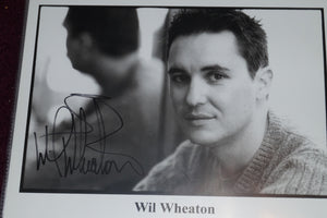 "Autographed Photo ""Will Wheaton"""