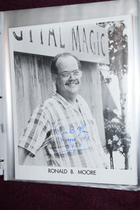 "Autographed Photo ""Ronald B Moore"""