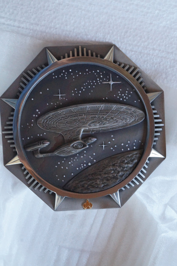 Encounter at Farpoint Pewter Plate