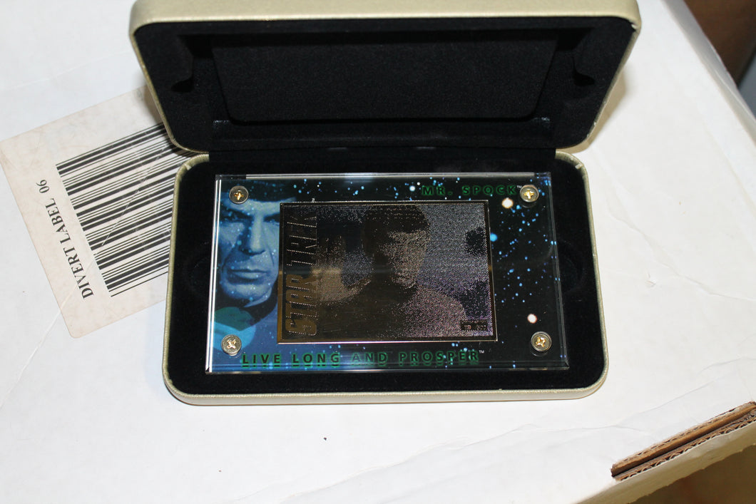 Mr Spock 24karat gold card