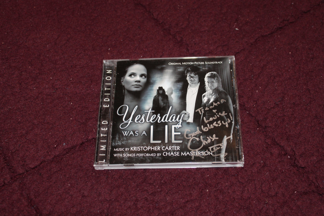 Yesterday was A Lie Music CD with Chase Masterson AUTOGRAPHED