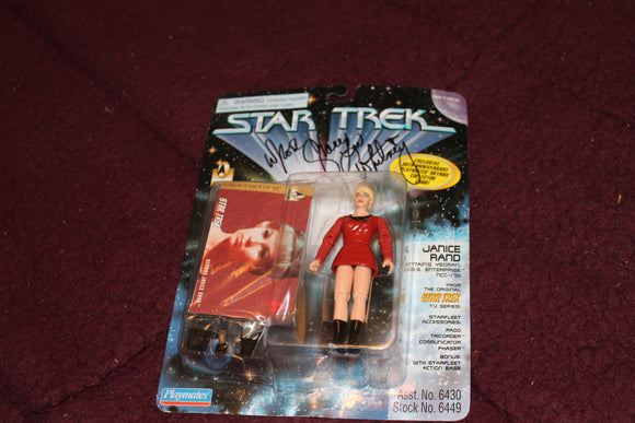 Yeoman Janice Rand Action Figure AUTOGRAPHED by Grace Lee Whitney
