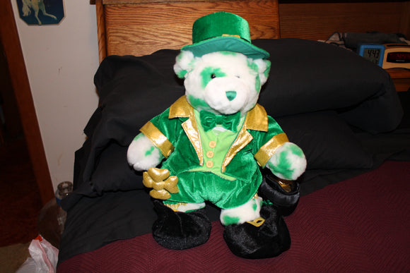 Build a Bear RETIRED  St Patricks day  Lots o Luck  Teddy