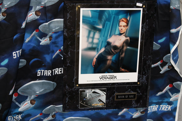 Jeri Ryan as 7 of 9 wall Plaque