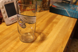 Star Trek USS Enterprise Promotional Glass