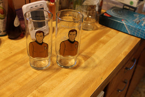 Captain Kirk Promotional Glass