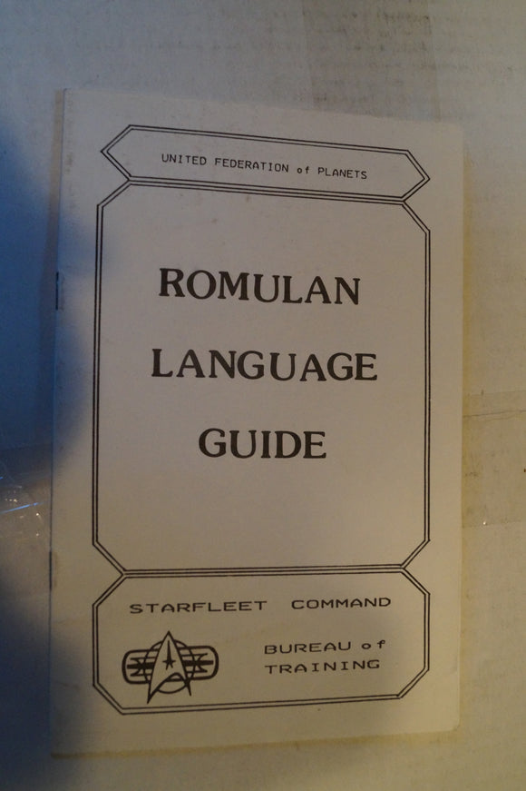 Romulan Language Guide.