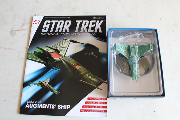 Eaglemoss Star Trek #53 Klingon Augments Ship