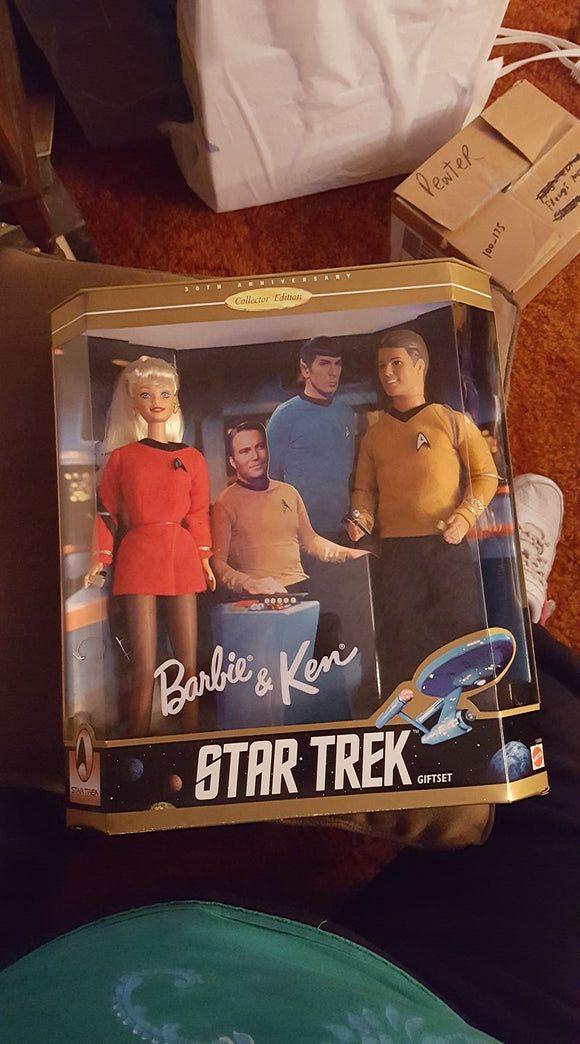 Barbie and Ken as Captain Kirk and Janice Rand from Star Trek