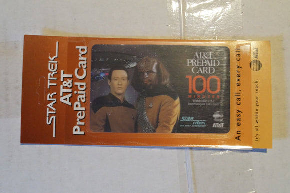 Star Trek AT&T Phone Card Star Trek the Next Generation Worf and Data