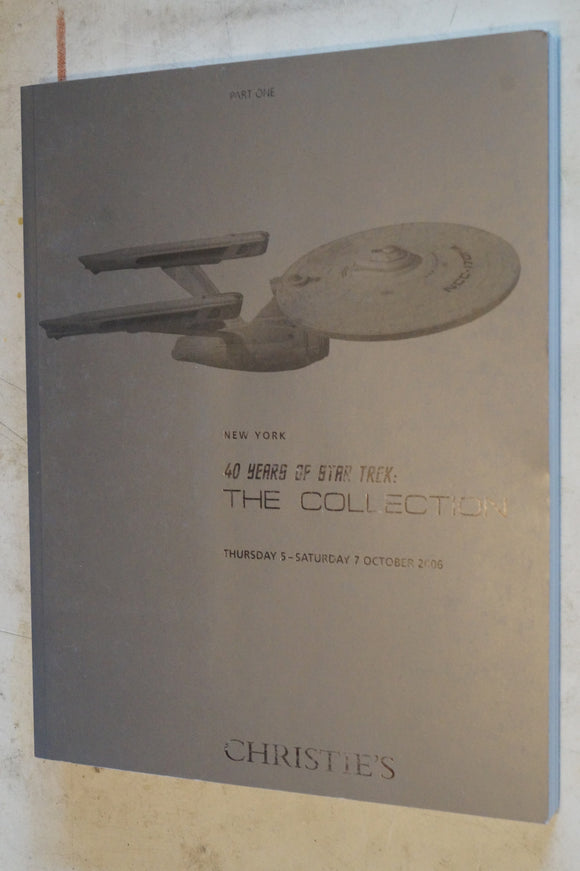 Christies Auction Guide Star Trek Auction