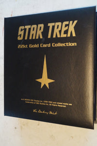 Star Trek 22k gold card collection
