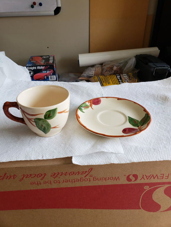 Franciscan Apple Cup and Saucer