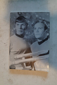 Journal With Kirk and Spock Black and white Photo