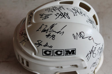 Tacoma Sabercats Hockey Helmet Signed by Team