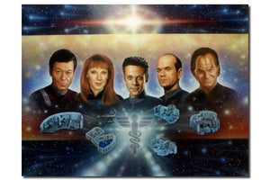 Lightspeed fine art the 5 doctors AUTOGRAPHED