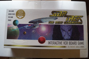 Star Trek the Next Generation Interactive VCR Board Game