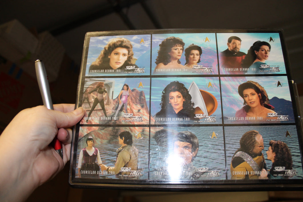 Deanna Troi Uncut Card Sheet