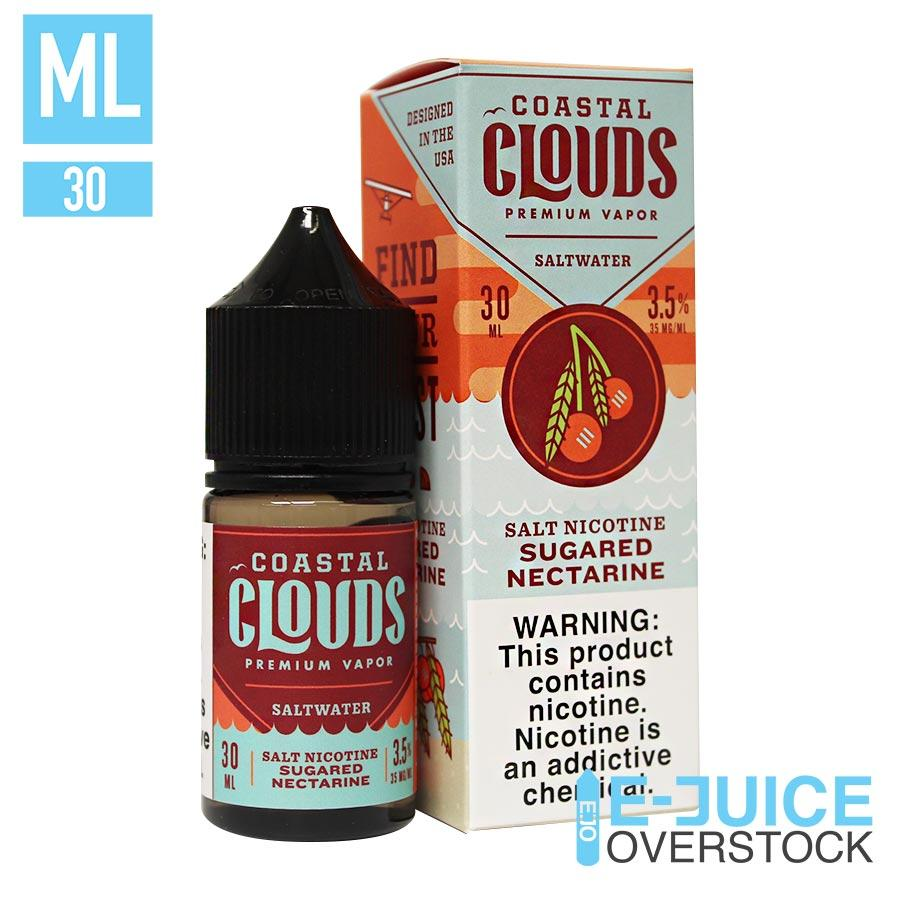 Sugared Nectarine by Coastal Clouds Salts 30ML SALTNIC