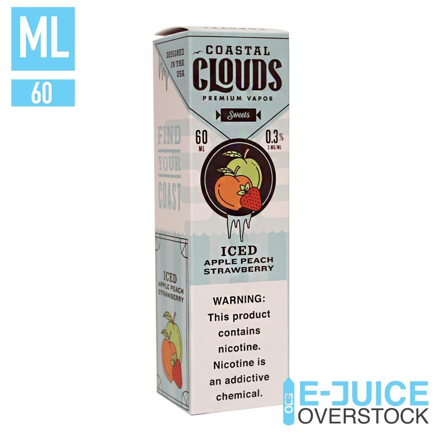 Iced Apple Peach Strawberry by Coastal Clouds 60ML