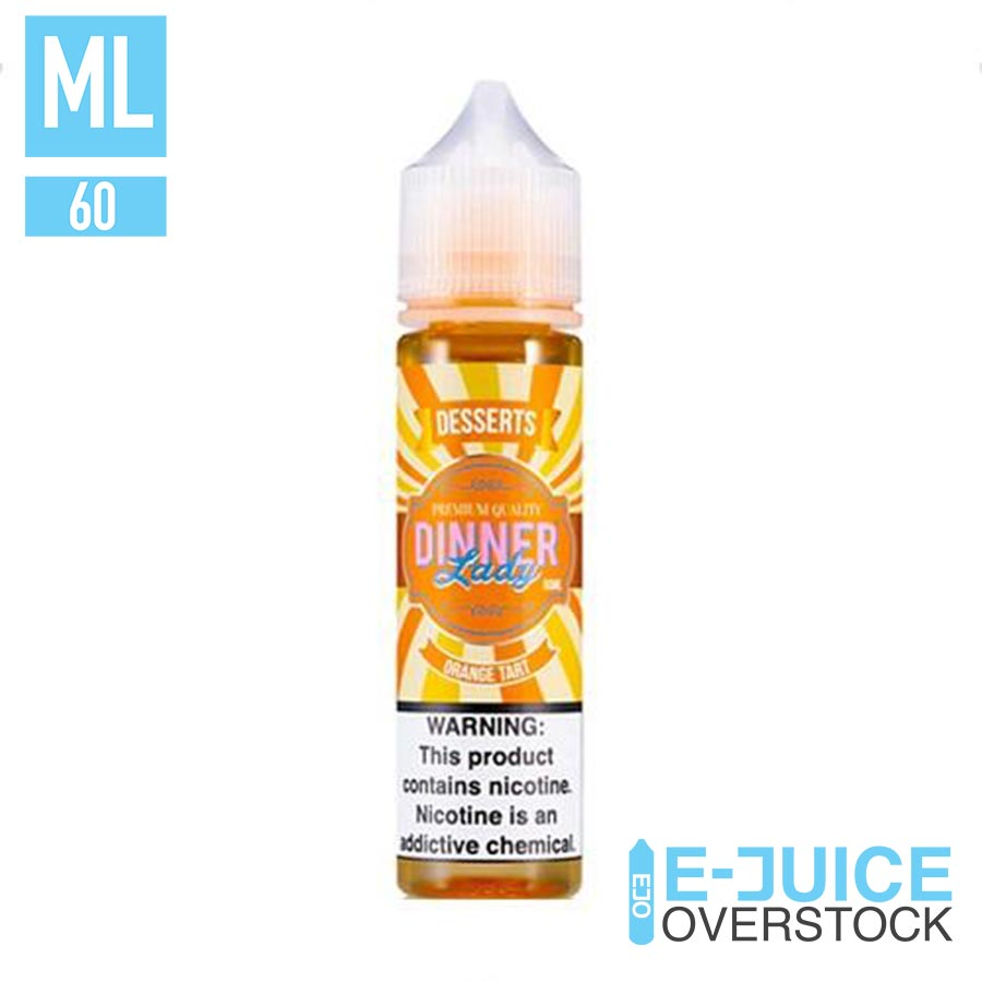 ORANGE TART BY DINNER LADY EJUICE 60ML