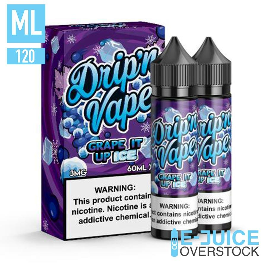 Grape It Up Ice by Drip'n Vape 2x60ML EJUICE
