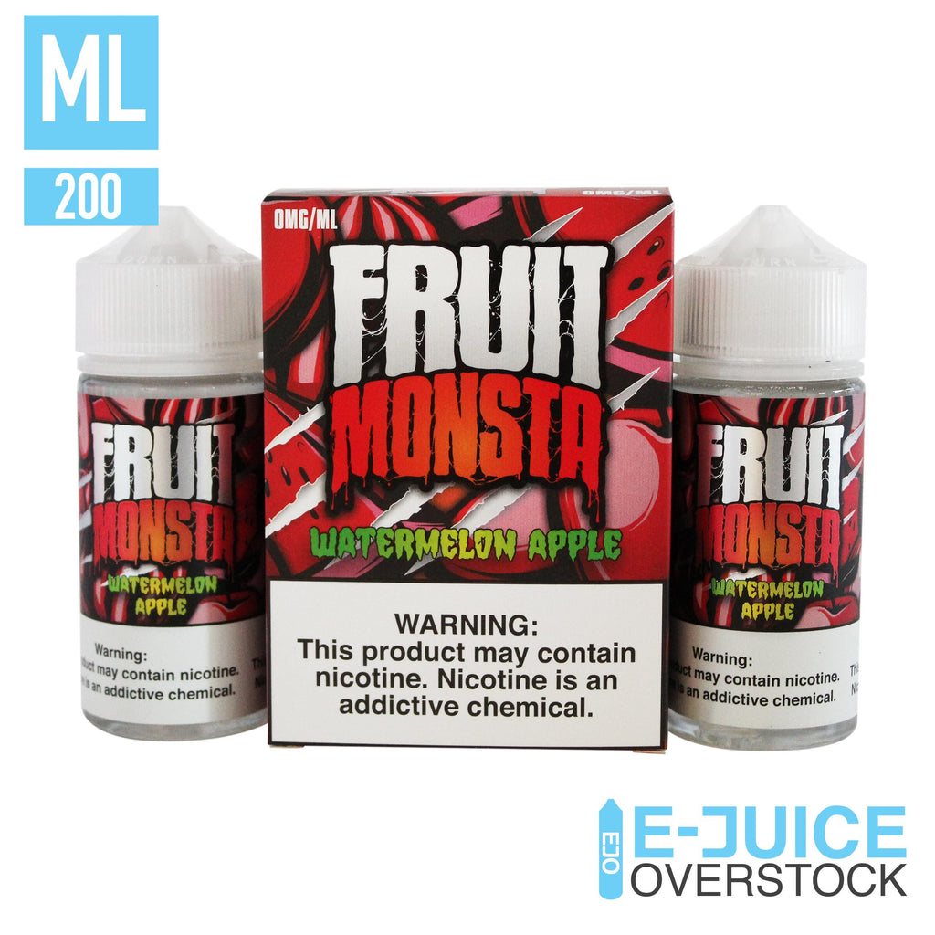 Watermelon Apple by Fruit Monsta E-Liquid (2 x 100ml) - EJUICE