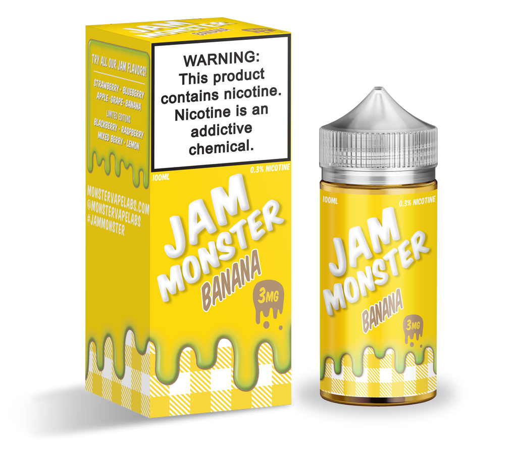 Banana By Jam Monster 100ML EJUICE