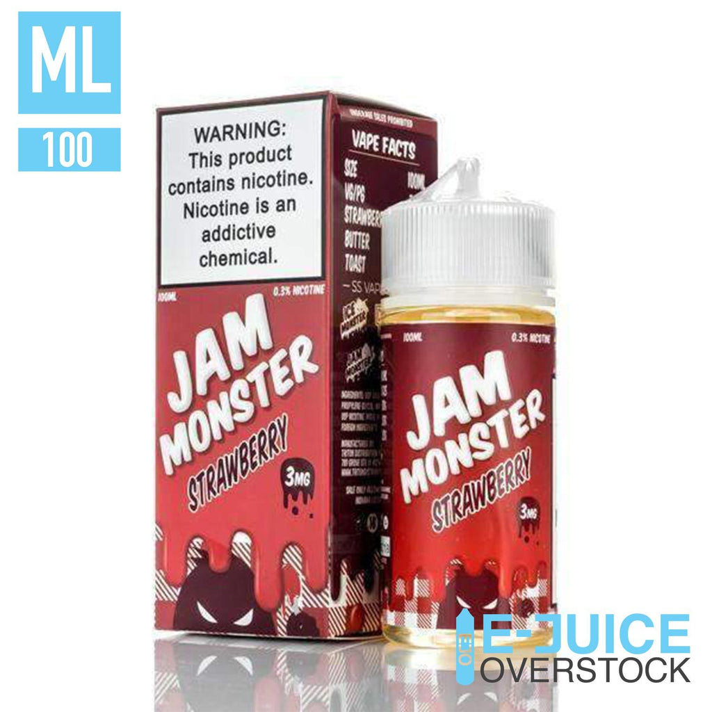 Strawberry By Jam Monster 100ml EJUICE - EJUICE