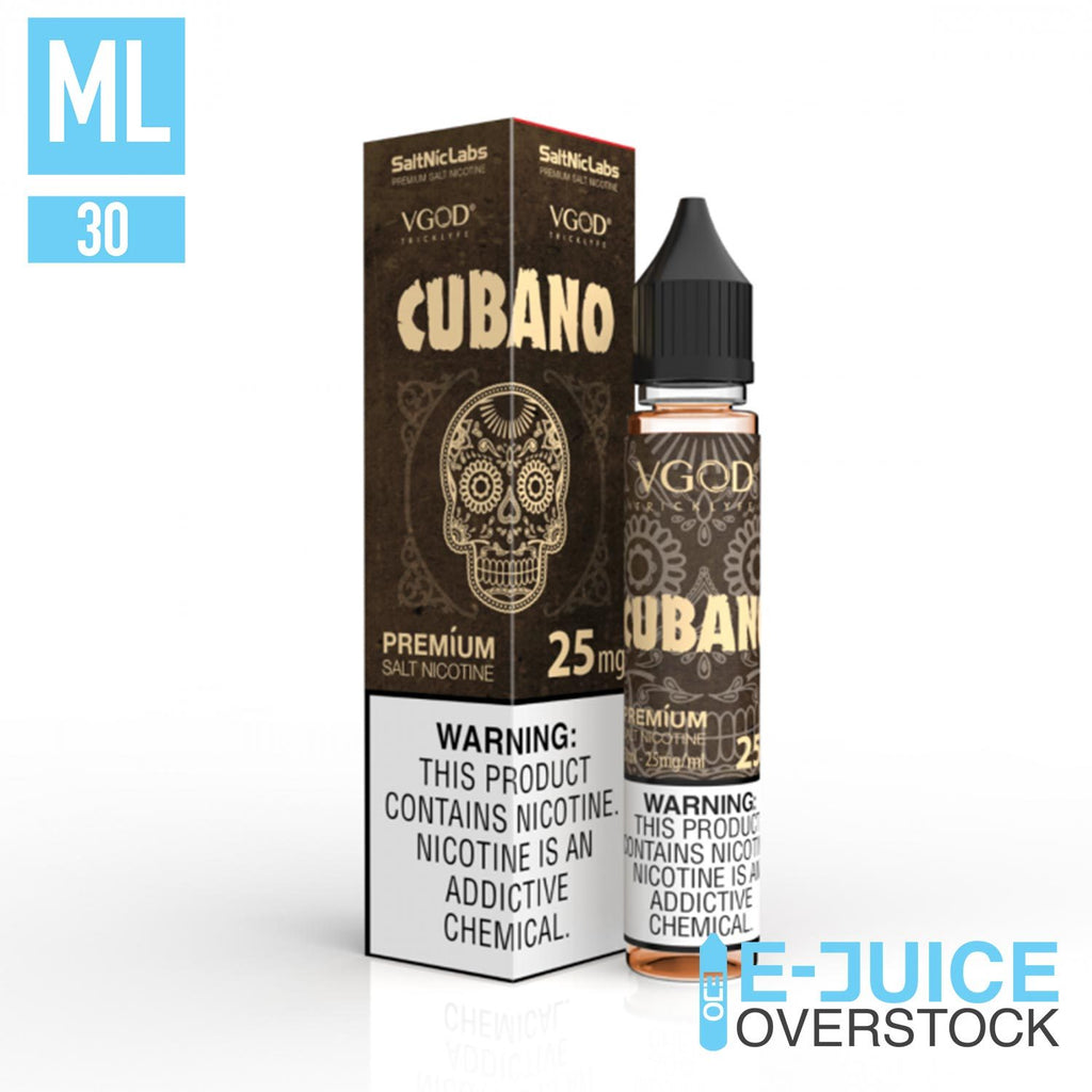 Cubano SaltNic by VGOD Salts 30ml - SALTNIC