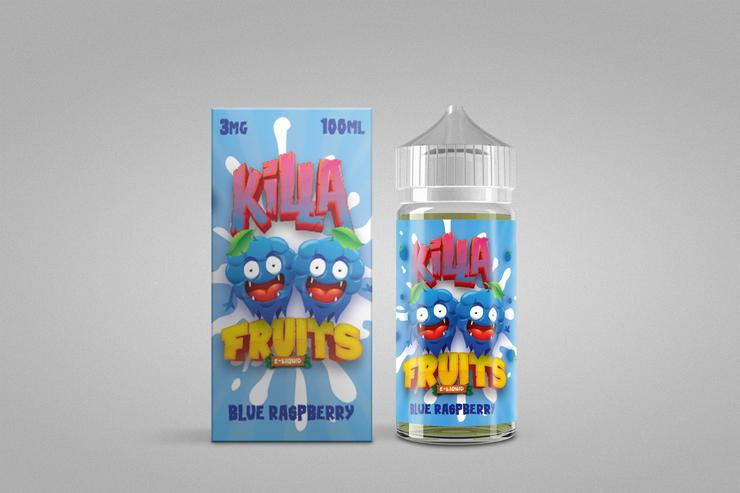 Blue Raspberry by Killa Fruits 100ML Ejuice