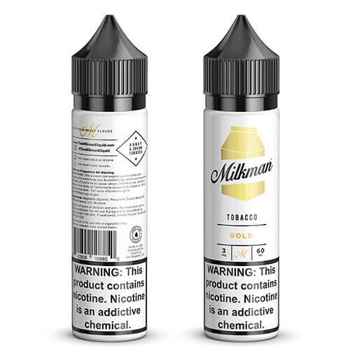 THE MILKMAN TOBACCO ELIQUIDS - TOBACCO GOLD 60ML