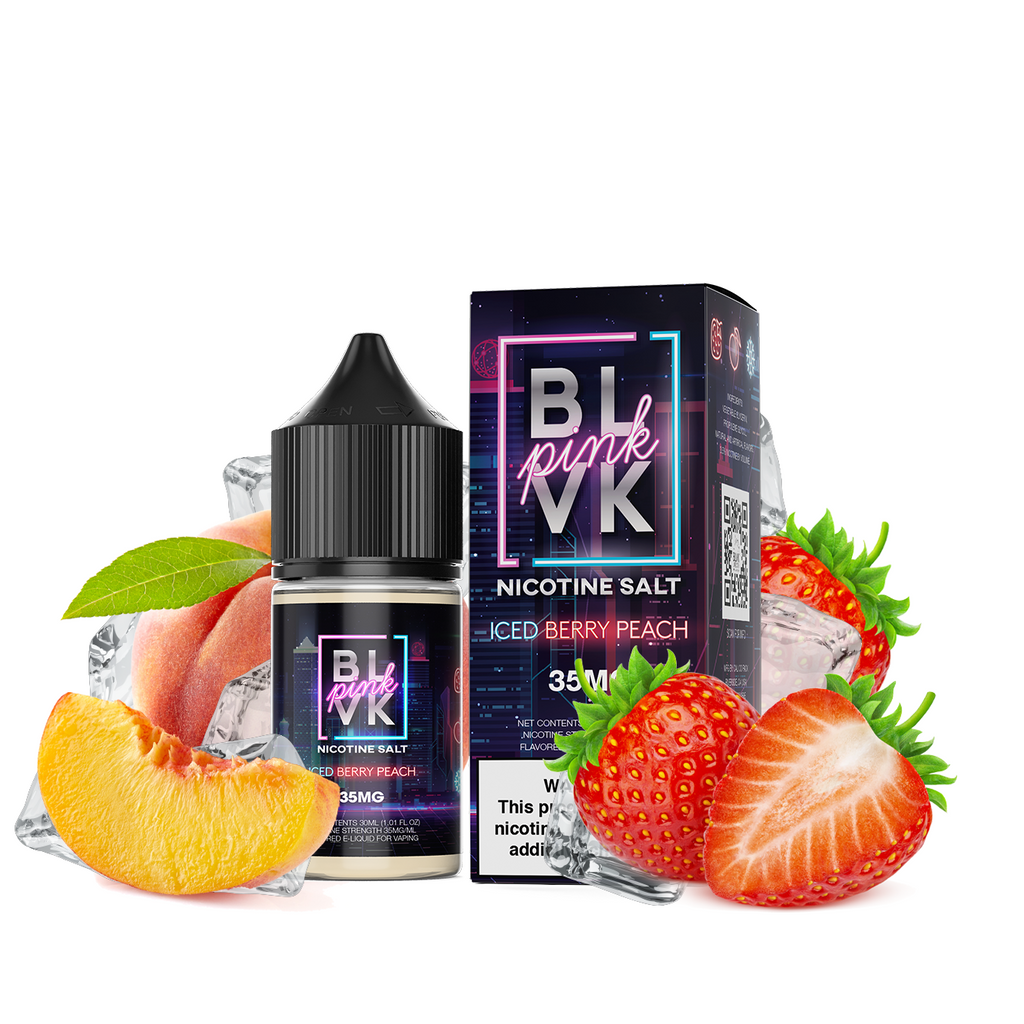 Iced Berry Peach by BLVK Pink Salts 30ML Saltnic