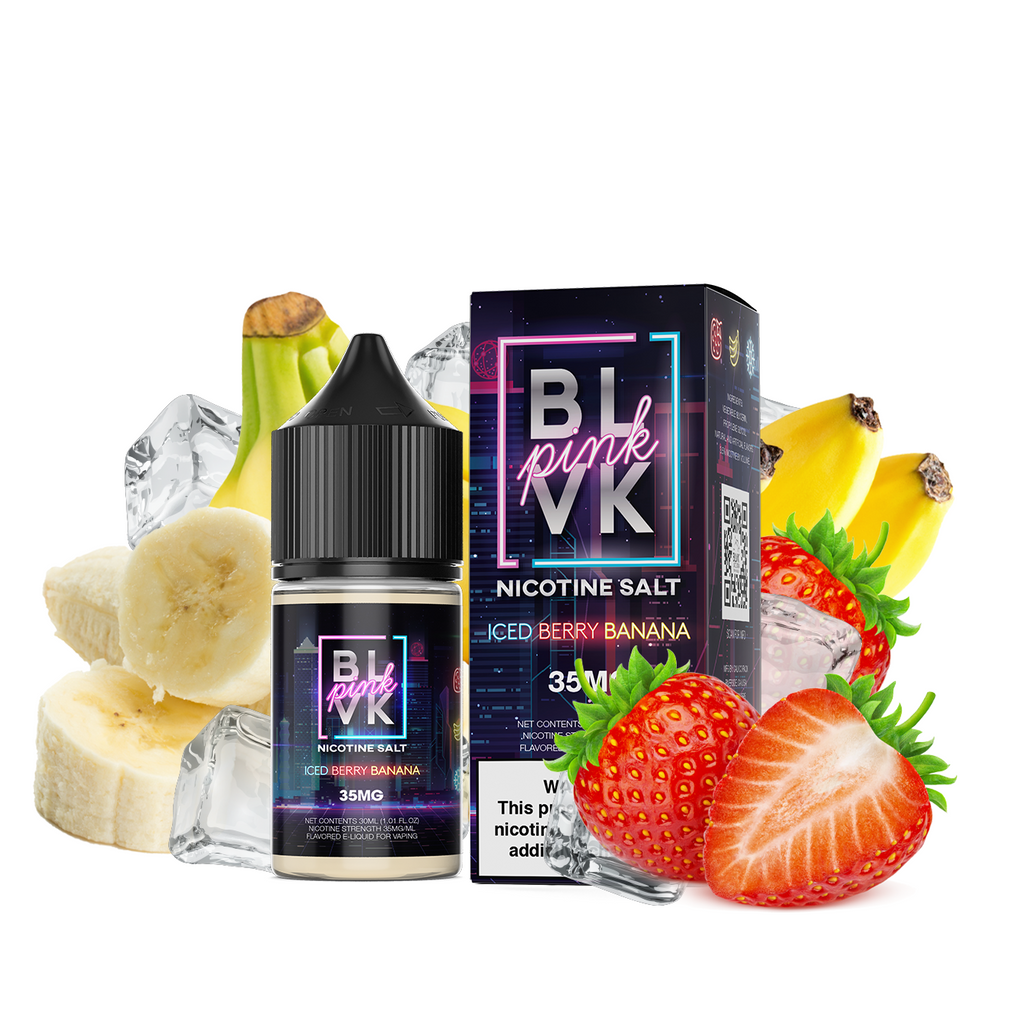 Iced Berry Banana by BLVK Pink Salts 30ML Saltnic
