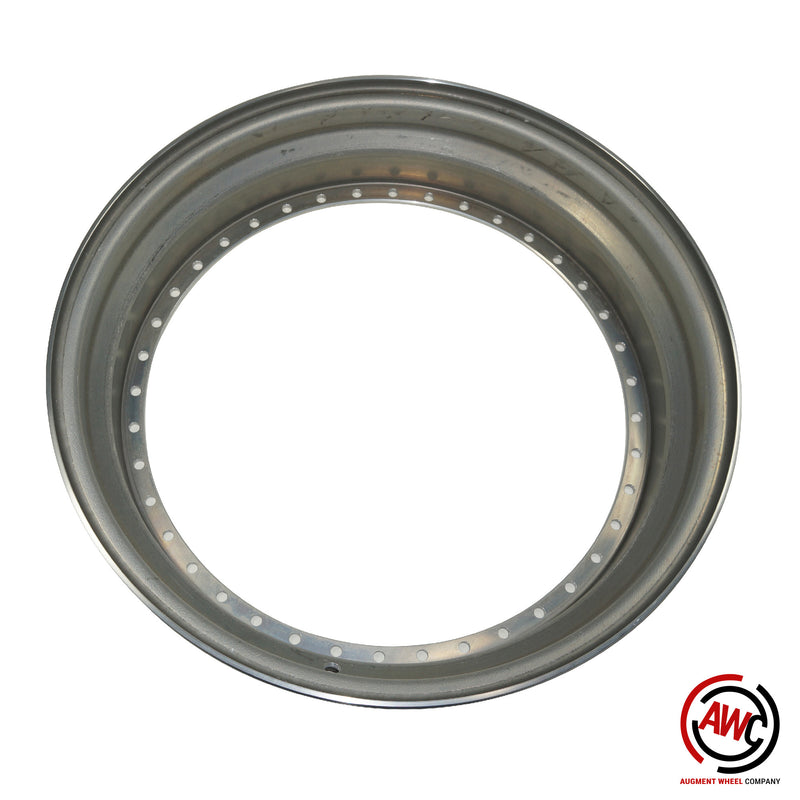 "18"" Step Outer Lip - American Standard 40 Hole - Raw - Straight Flange"